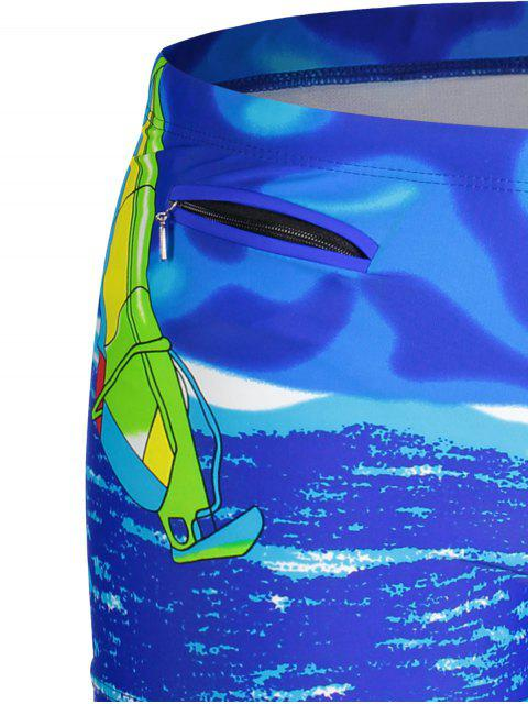 womens Mens Swim Trucks Boxer Shorts - BLUE 2XL Mobile