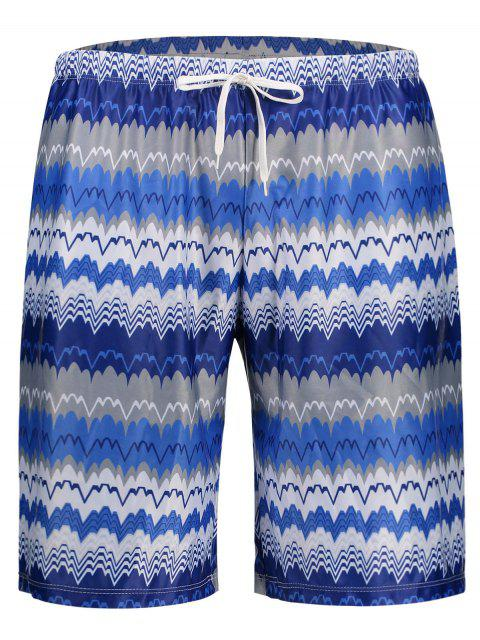 outfits Mens Striped Swim Trucks Board Shorts - COLORMIX M Mobile