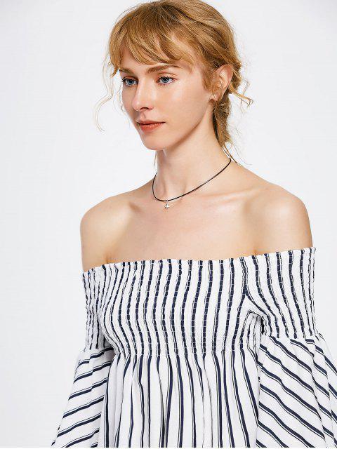 Robe rayée à manches courtes épaules - Rayure XL Mobile
