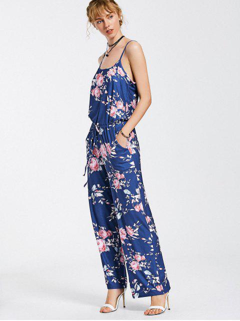 Combinaison de sac à main floral - Bleu XL Mobile