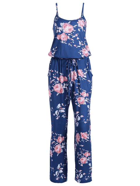 Combinaison de sac à main floral - Bleu S Mobile