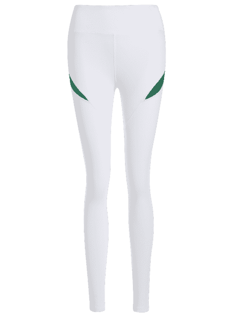 trendy Running Tights Workout Leggings - GREEN L Mobile
