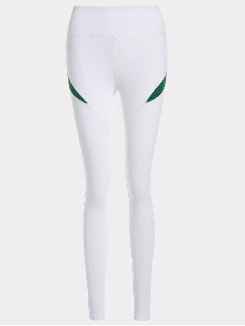 unique Running Tights Workout Leggings - GREEN S Mobile