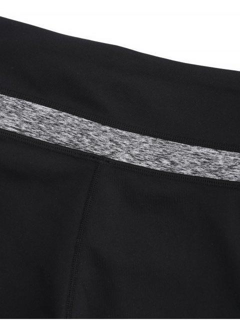Shorts d'entrainement en blocs de couleurs - Noir et Gris S Mobile