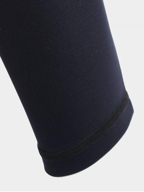 womens Cut Out Mesh Workout Leggings - BLACK M Mobile