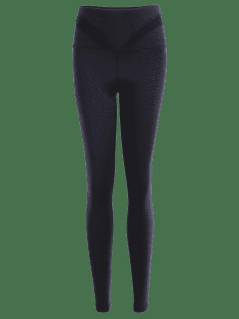 Leggings d'entraînement en maille découpée - Noir S Mobile