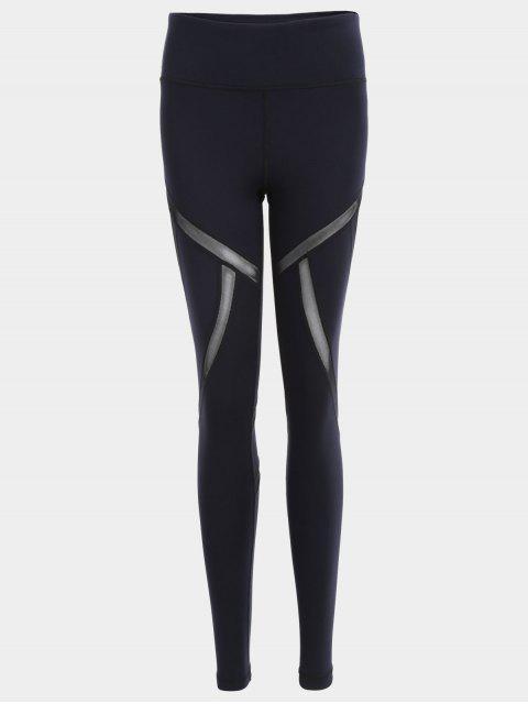 women's Fit Mesh Workout Leggings - BLACK L Mobile