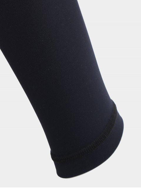 ladies Fit Mesh Workout Leggings - BLACK M Mobile