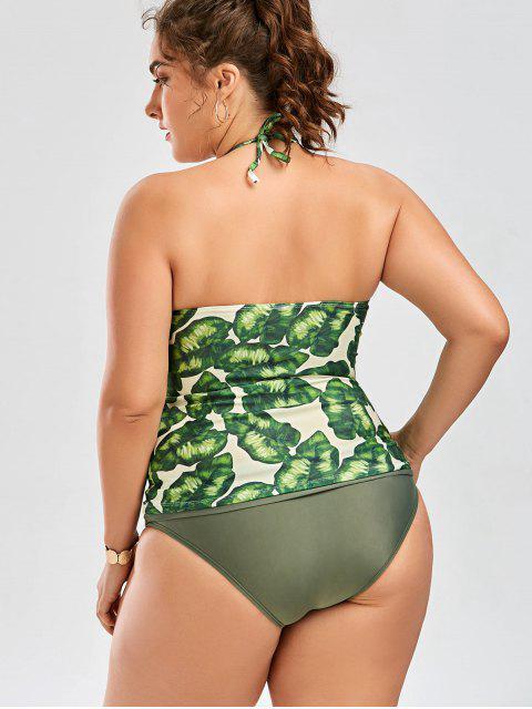 Housse de bain Tankini à grande taille - Vert 3XL Mobile