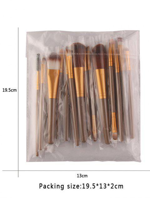18Pcs Ensemble de brosses multifonctions pour maquillage facial - Brun et Or  Mobile