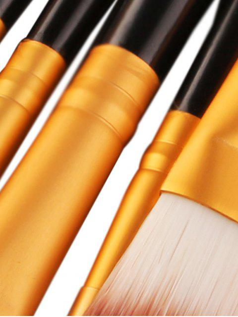 18Pcs Ensemble de brosses multifonctions pour maquillage facial - Noir et Or  Mobile
