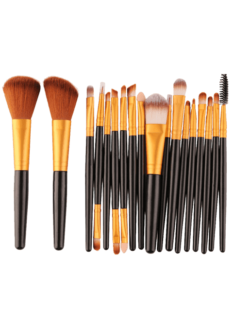 women 18Pcs Multifunctional Facial Makeup Brushes Set - BLACK AND GOLDEN  Mobile