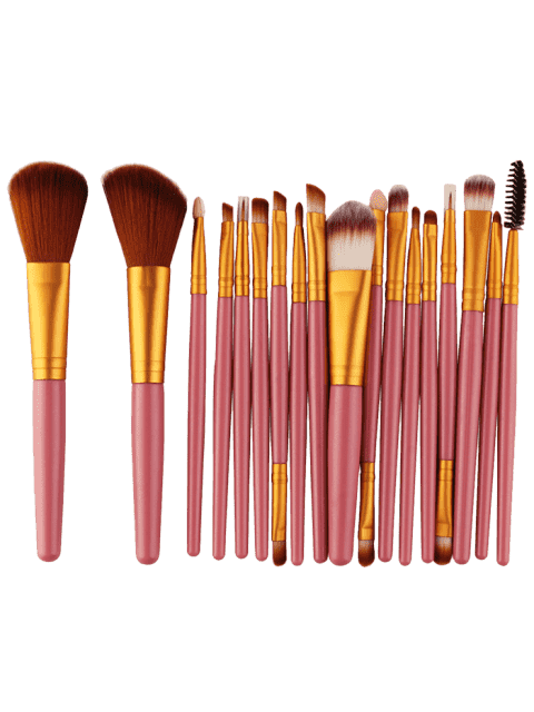 new 18Pcs Multifunctional Facial Makeup Brushes Set - GOLD AND PINK  Mobile