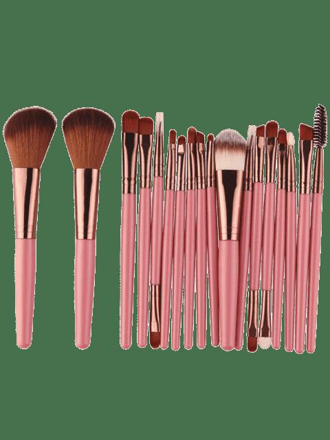 18Pcs Ensemble de brosses multifonctions pour maquillage facial - Brun Rosâtre  Mobile