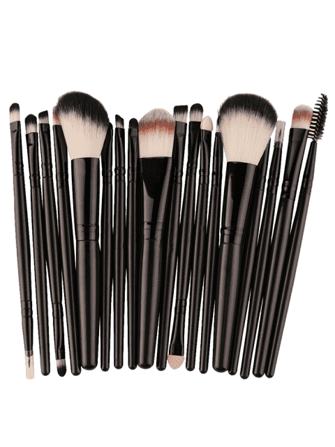 women's 18Pcs Multifunctional Facial Makeup Brushes Set - BLACK  Mobile