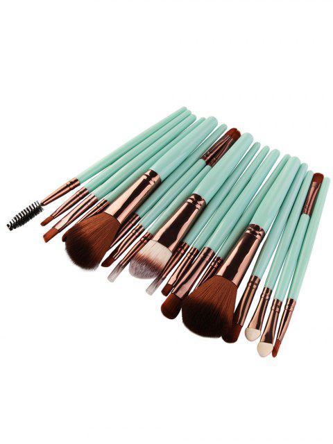 18Pcs Ensemble de brosses multifonctions pour maquillage facial - Vert + Brun  Mobile