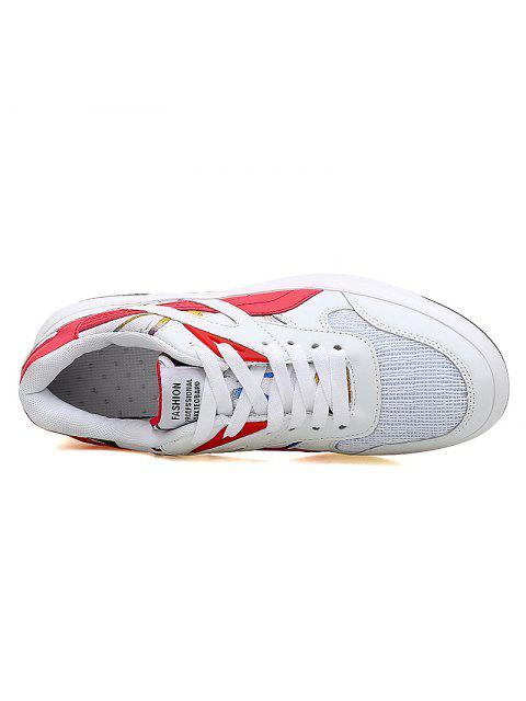 women Color Block Mesh Running Athletic Shoes - RED WITH WHITE 38 Mobile