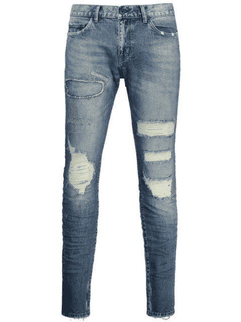 Jeans en détresse vintage - Denim Bleu 40 Mobile
