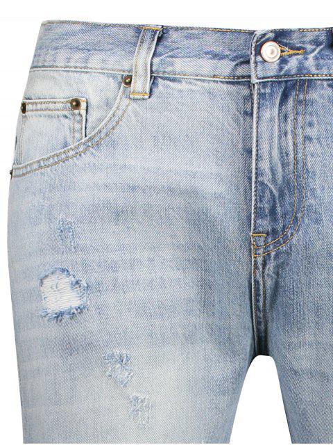 Vintage Ripped Jeans - Bleu clair 38 Mobile