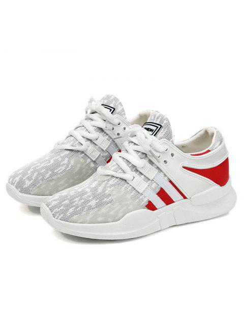 best Breathable Colour Block Mesh Athletic Shoes - LIGHT GRAY 39 Mobile