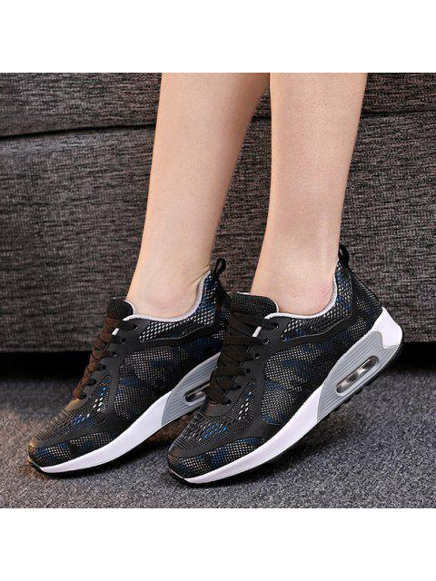 fashion Air Cushion Multicolor Athletic Shoes - BLACK AND GREY 37 Mobile