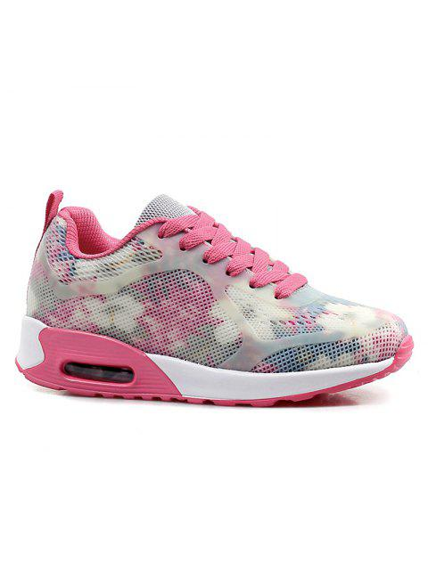 ladies Air Cushion Multicolor Athletic Shoes - RED WITH WHITE 40 Mobile