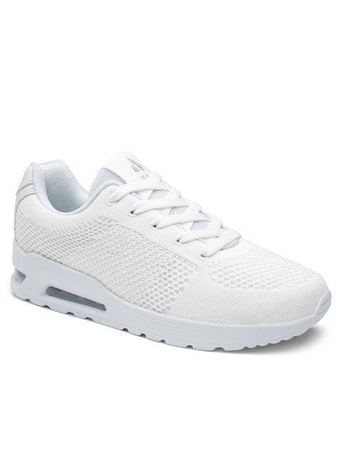 buy Air Cushion Mesh Athletic Shoes - WHITE 38 Mobile