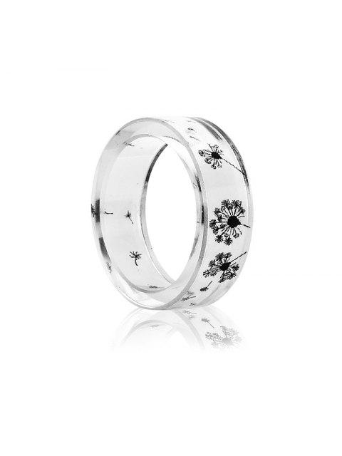 sale Dandelion Transparent Resin Ring - TRANSPARENT 7 Mobile