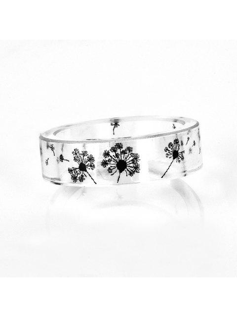 affordable Dandelion Transparent Resin Ring - TRANSPARENT 8 Mobile