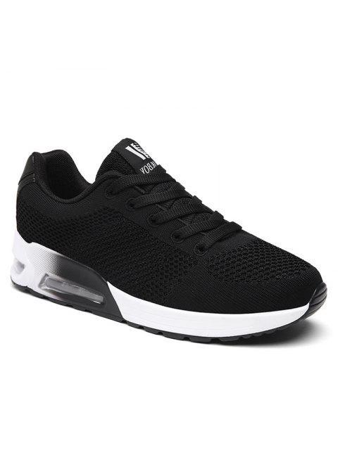 chic Air Cushion Mesh Athletic Shoes - BLACK 39 Mobile
