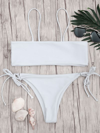 Image of Bandeau Bikini Top and Tieside Bottoms