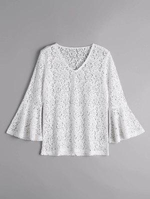 Blusa Blusa Blusa Com Renda - Branco M