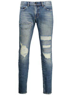 Jeans en détresse vintage
