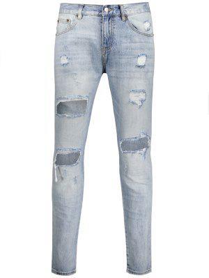 Vintage Ripped Jeans - Light Blue 40