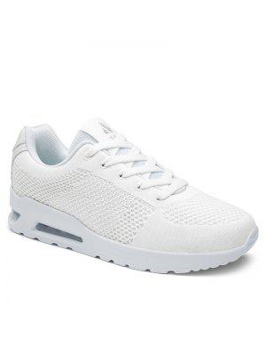 Air Cushion Mesh Athletic Shoes - White 37