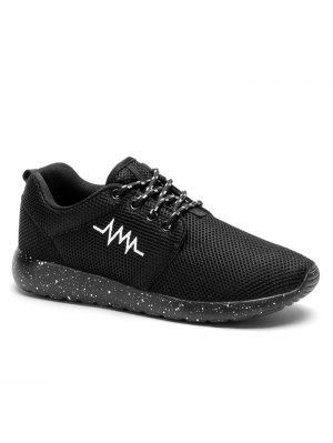 Línea De Bordado De Malla De Zapatos Deportivos - Negro 40