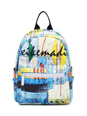 Faux Leather Painted Backpack