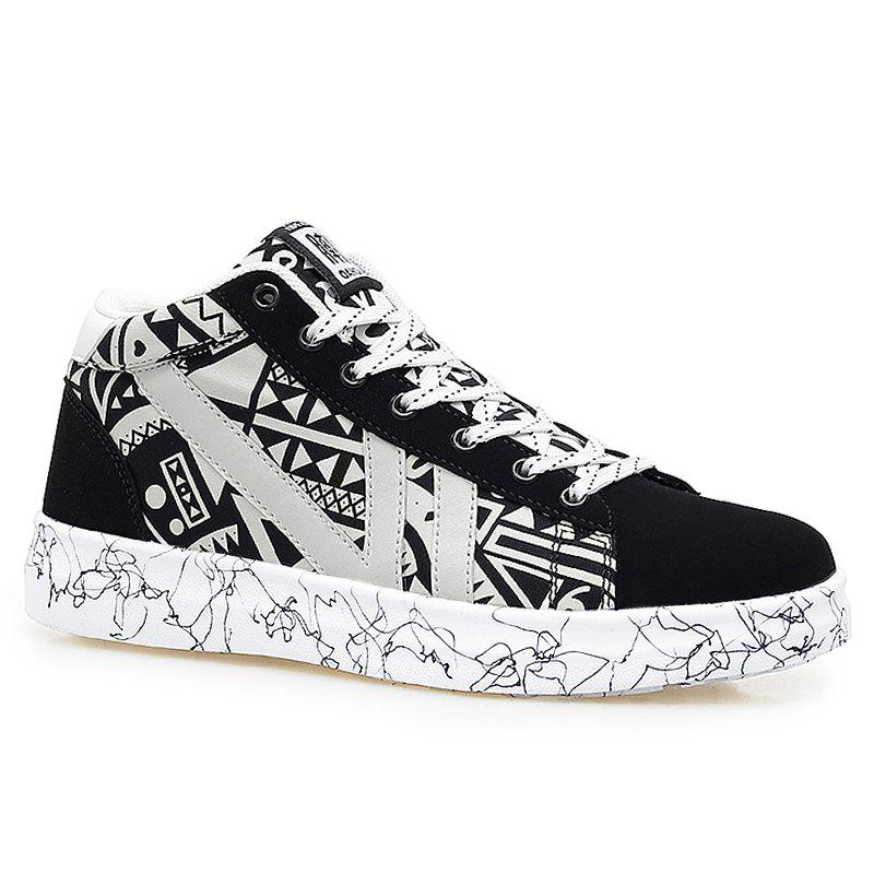 Color Block Geometric Pattern Casual Shoes 220767205