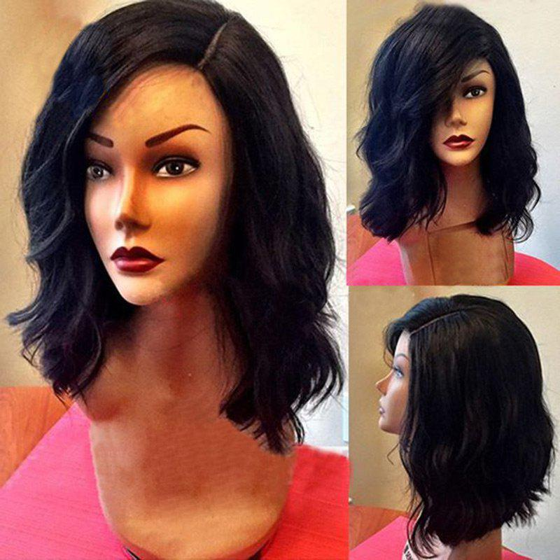Medium Side Parting Shaggy Wavy Bob Synthetic Wig 220856701