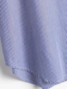 Floral Stripes Bordada L Blusa Blusa Raya ZCCwf5qg