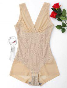 Full Body Firming Girdle Shaping Bodysuit - Nude L