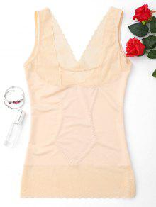 Compression Body Shaper Girdle Tank Top - Complexion 2xl