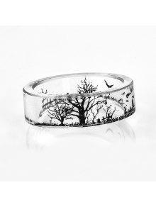 شجرة الحياة الخفافيش خاتم الراتنج شفافة - شفاف 7