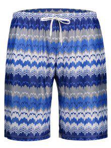 Mens Striped Swim Trucks Board Shorts - Xl
