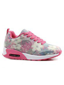 Air Cushion Multicolor Athletic Shoes - Red With White 40