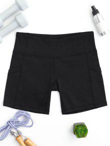 Active Pockets Workout Shorts - Black L