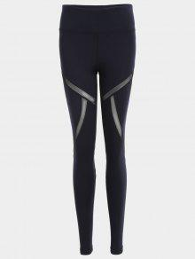 Fit Mesh Workout Leggings - Black S