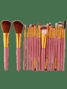 18 قطع متعددة الوظائف ماكياج الوجه مجموعة - الذهب والوردي
