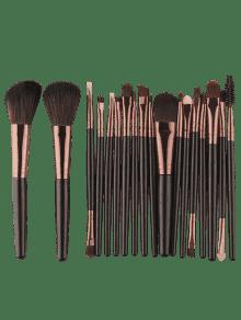 18pcs Multifuncional Maquillaje Facial Pinceles Conjunto - Marrón Oscuro