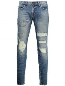 Vintage Distressed Jeans - Denim Blue 34